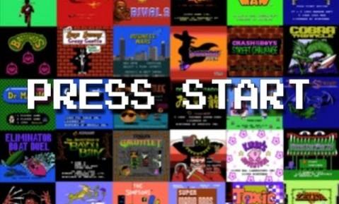 PRESS START EN NES