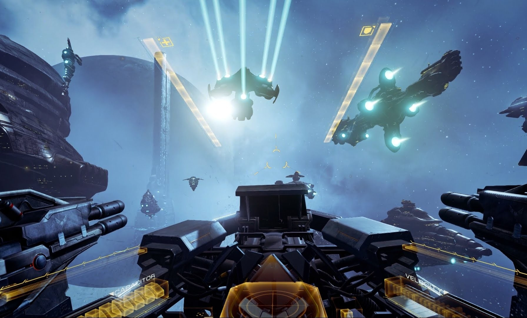 EVE : VALKYRIE CON CASCO DE REALIDAD VIRTUAL