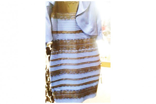 Dress-Blue-and-black-or-white-and-gold