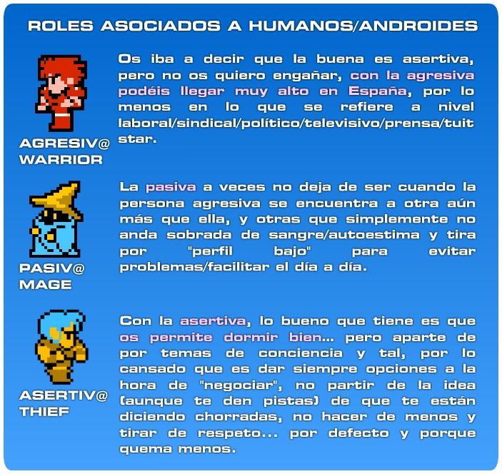 TIPOS DE ROLES