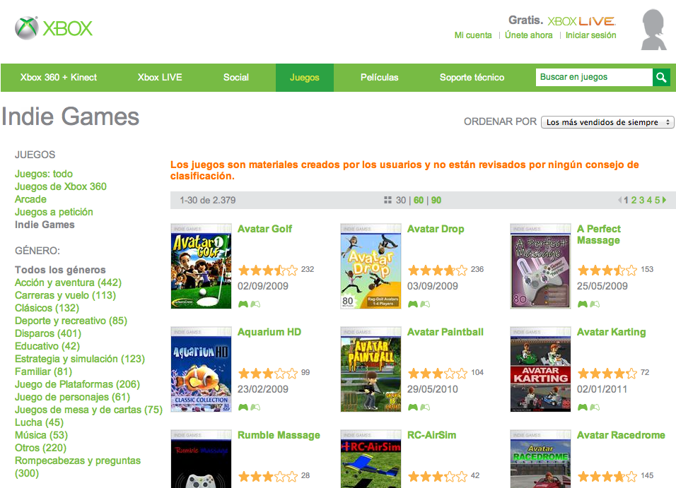 Shovelware xbox live indie games